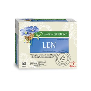 Len na lepsze trawienie 60 tabletek