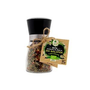 Sól himalajska z EKO ziołami do sałatek młynek 95 g