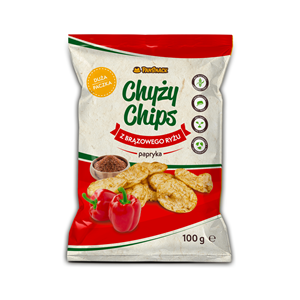 Chipsy ryżowo-paprykowe 100 g