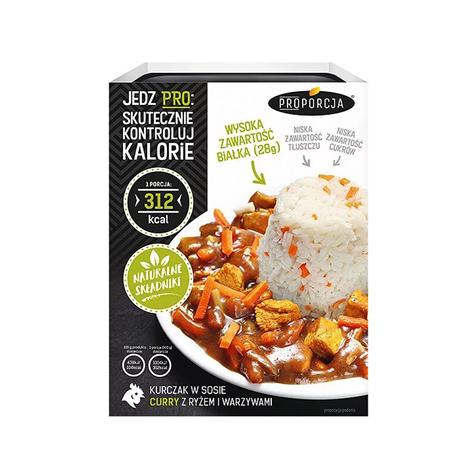 Kurczak w sosie curry z ryżem i warzywami 300 g